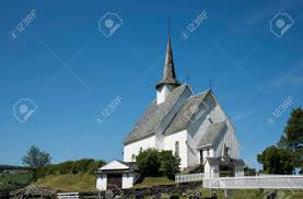 100 Ulnes Europe Norway Church Along Lakeshore In Central Norway