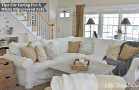 Real Life With A White Slipcover & Keeping It Pretty - City ... Distributorjerseybolathaicom Jcpenney Slipcovers For Sectional Couch The Pottery Barn Remarkable Deal On Sure Fit Ballad Bouquet 1pc Shrd Sofa Ding Chair Covers Ideas Home Design Stretch Pique Slipcover Great Side Fniture Oversized Slipcovers To Keep Your Give Makeover With Recliner Armless For Room Unique Big Lots Best Fice Under 100 Jcpenney Patio Elegant Living