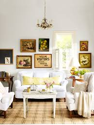 Salon Decor Ideas Images by Living Room Decorating Ideas With Beautiful Thrift Store Paintings