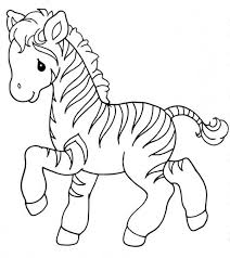 Sweet Little Zebra Coloring Page