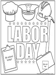 Coloring Download Labor Day Pages Free Printable