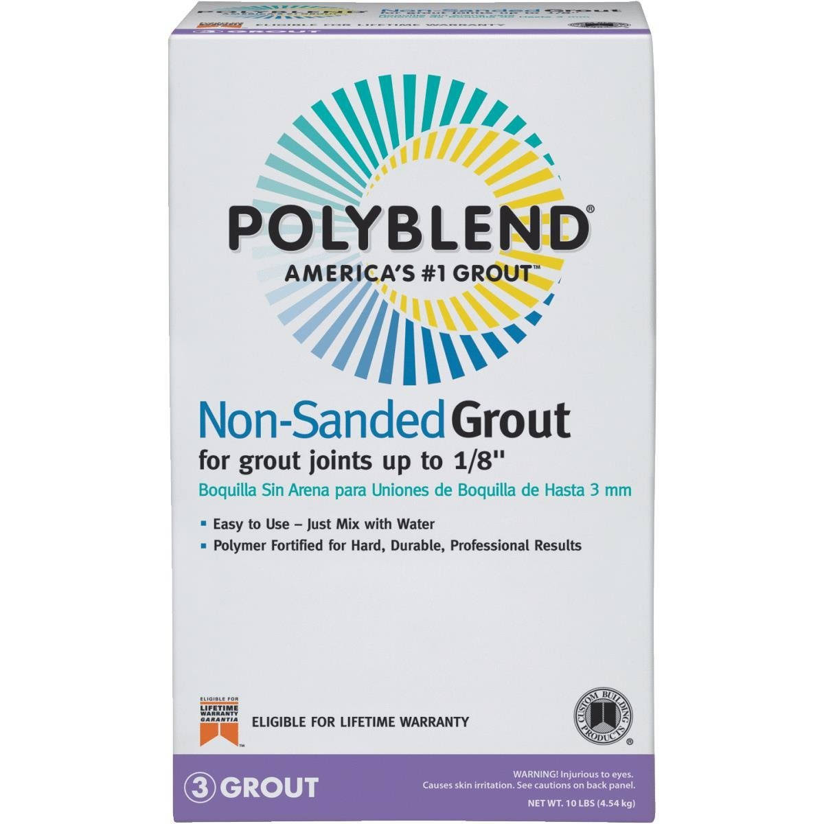 Custom Building Products Polyblend #165 Delorean Gray Tile Sanded Grout - 25lb
