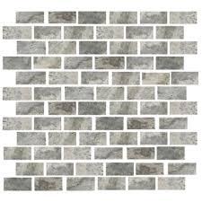 florida tile pietra travertine mosaic 1 x 2 silver