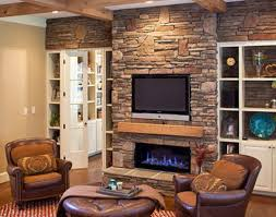 Sunroom Living Room Ideas With Stone Fireplace Awesome Neutral Rustic Wood Ceiling And