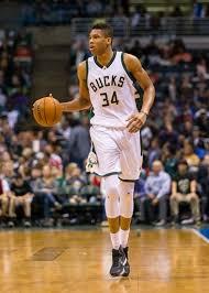 Giannis Antetokounmpo Milwaukee Bucks NBA Action Size 17 x