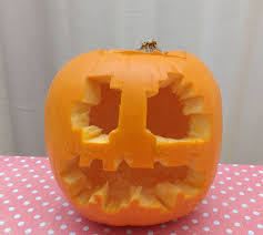 Minecraft Pumpkin Design by Minecraft Jack O Lantern Pumpkin With Pixel Art