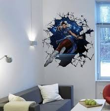 Sexy Girl Break Through The Wall Art Mural Decor In Game Come Out Of Decal Poster Wallpaper Graphic