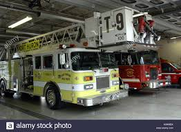 100 House Trucks Fire Trucks Inside The Station House In Port Huron Michigan Stock