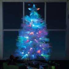 White Fiber Optic Christmas Tree