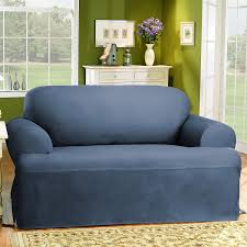 Sure Fit Stretch T Cushion Sofa Slipcover by Amazon Com Sure Fit Duck Solid T Cushion Sofa Slipcover