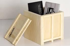 INBOX Wooden Desktop Crates Small Box