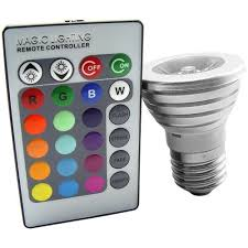 led light bulb with 16 colors changing and wireless remote