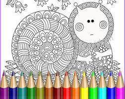 Coloring Page Adult And Children Doodle ZenCute 2 Intricate Zendoodle Patterns