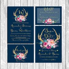 Wedding Suite Wedding Invitations Deer by HappyLifePrintables