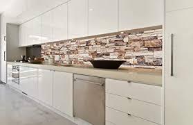 dimex line küchenrückwand folie selbstklebend steinige wand klebefolie dekofolie spritzschutz für küche premium qualität made in eu 350 cm
