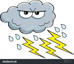 And In Color Lightening Lighting Storm Clipart Thunderstorm Cloud Pencil Lightning