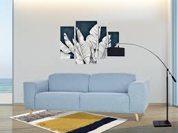 4 sitzer sofa donald stoff hellblau meliert
