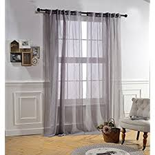 Blue Crushed Voile Curtains by Amazon Com Mysky Home Back Tab And Rod Pocket Window Crushed