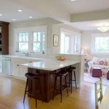 Kitchen Family Room Combine In Harmonious Space