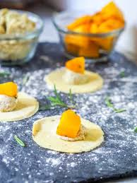 Pumpkin Ravioli Filling Ricotta by Vegan Ravioli With Pumpkin And Ricotta Gf Vegan Dinner Party
