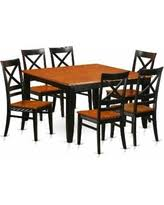 Seven Piece Dining Room Set by Slash Prices On Duke7 Blk Black Rubberwood Seven Piece Dining Room