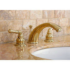 Polished Brass Bathroom Faucets Widespread by Kingston Brass Widespread Home Faucets Ebay
