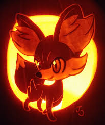 Pumpkin Carving Drill Holes by Fire Type Fennekin Pumpkin Pumpkin Carving Ideas