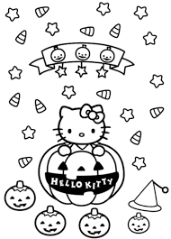 Click To See Printable Version Of Hello Kitty Halloween Coloring Page