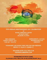 Indian Independence Day Celebration ing to Millburn Millburn