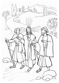 Jesus And Disciples On The Road To Emmaus