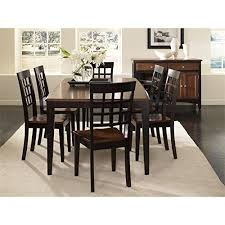 A America Bristol Point 8 Piece Dining Set In Espresso
