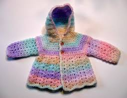 hood crochet pattern baby sweater top down no seams to sew