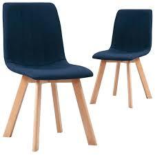 vidaxl esszimmerstühle 2 stk blau stoff