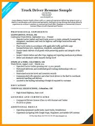 Sample Resume Truck Driver Canada Drivers Examples 5 Example Lorry
