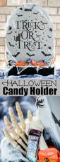 Diy Halloween Wood Tombstones by Halloween Tombstone Candy Holder