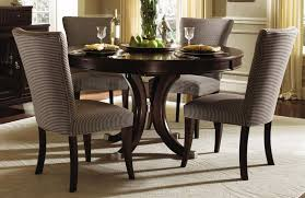 Elegant Formal Dining Room Design with Espresso Finish Round