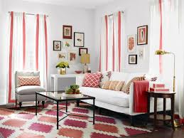 Red And Black Living Room Decorating Ideas by Red And White Living Room Interior Theme Centerfieldbar Com