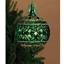 GERSON 6 Inch Lighted Filigree Ball Christmas Ornament Indoor