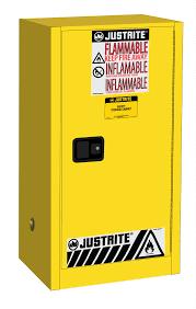 combustible safety cabinet 20 gal 2 shlves 1 s c dr justrite