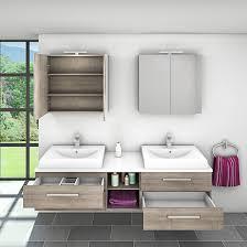 badmöbel set city 307 v1 braun eiche badezimmermöbel waschtisch 200cm nein ohne led beleuchtung