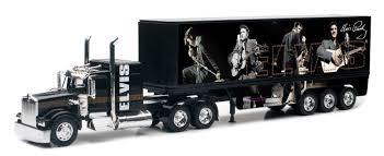 Other Action Figures - New Ray Toys 1:32 Kenworth W900 Elvis Presley ... Diecast Kenworth Elvis Truck The Blue Suede 132 Scale By Newray Amazoncom Newray Peterbilt Us Navy Toy And Cattle Youtube Dcp T800 With Utility Dry Goods Trailer Carlile Ho Long Haul Semitrailer Kenworthcpr Model Power Mdp18007 Buy W900 With Flat Bed Hay 143 Grain Hauler Trucks Cars Toys Home 153 W900l Show Tractor Kw Other Action Figures New Ray Presley Replica Double Dump In