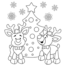 Coloring Pictures Christmas Sheets Tree Page Free Pages Printable 2017 10 11