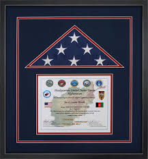 Flag Display Case Example For A Flown Over Bagram Afghanistan