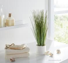 maritime deko gräser kunstgras im keramiktopf bad fenster