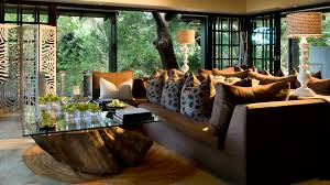 African Safari Themed Living Room by Andbeyond Phinda Forest Lodge Phinda Private Game Reserve