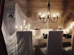 A Spooky Dinner Scene Made Perfect By Drapping LILL Lace Curtains
