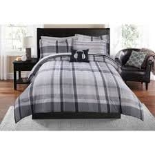 Mainstays Plaid Brown Bed In A Bag Bedding Set Walmart for