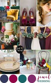 Jewel toned wedding palette Pinterest