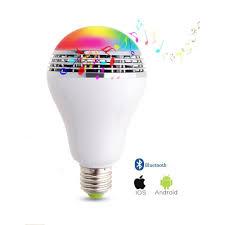 smart led bulb wireless bluetooth speaker sixty six depot