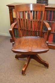 Oak Swivel Desk Chair Circa 1900